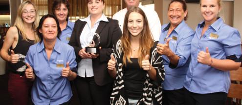 Staff accept OOPS Award